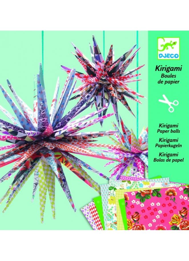 Kirigami - Djeco - Papírové hvězdy