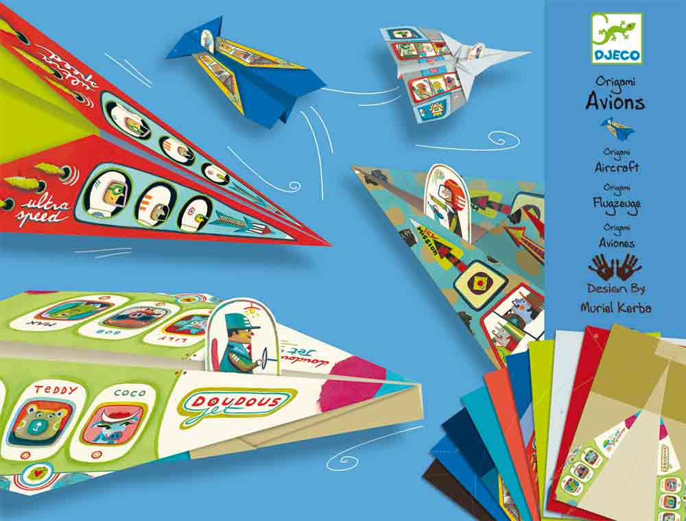 Origami - Djeco - Skládačky letadla